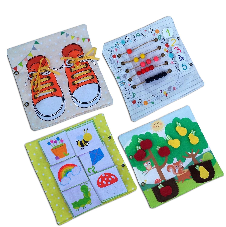 Quiet Book Busy Book Felt Activity Book Educational Sensory Toy
