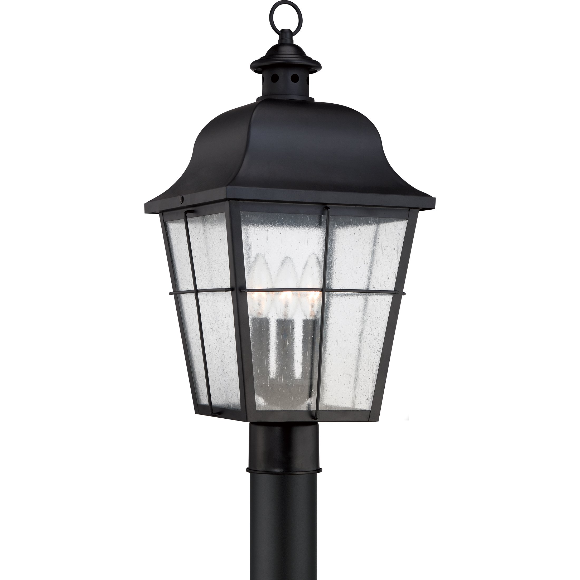 Quoizel MHE9010K 3-Light Millhouse Outdoor Lantern in Mystic Black by Quoizel
