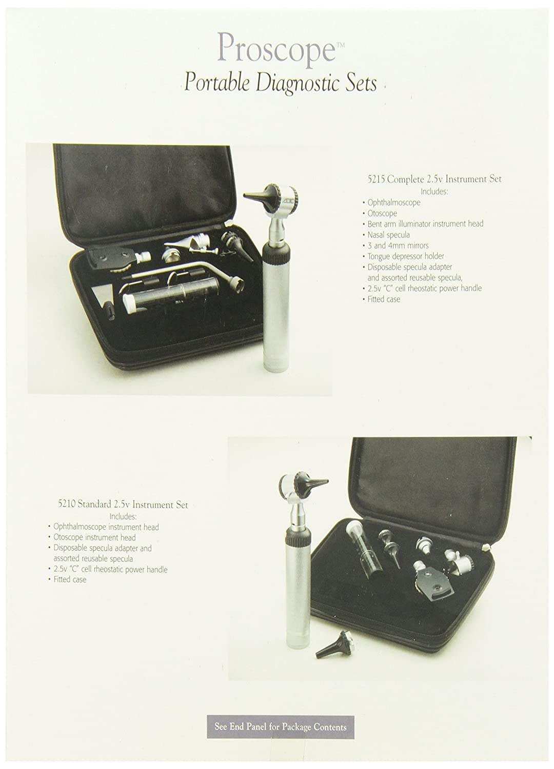 Amazon.com: ADC Otoscopio/ophthalmoscope Set, 2.5 V ...