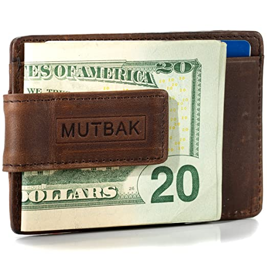 MUTBAK Bunker - Front Pocket Money Clip Wallet with RFID/NFC Blocking (Memphis)