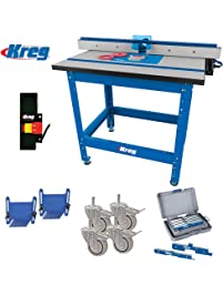 Router tables amazon power hand tools router parts kreg prs1045 precision router table built in micro adjuster and t fence with accessories kit greentooth Gallery