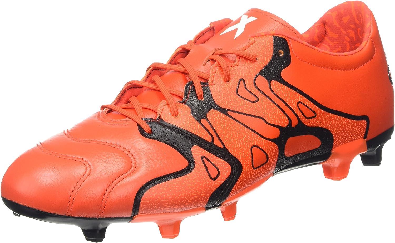 TALLA 39.5 EU. adidas X 15.2 FG/AG Leather, Botas de fútbol para Hombre