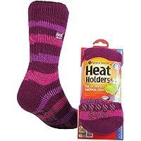Heat Holders Kids Warm Winter Thermal Gripper Anti-Slip Socks 8 years plus