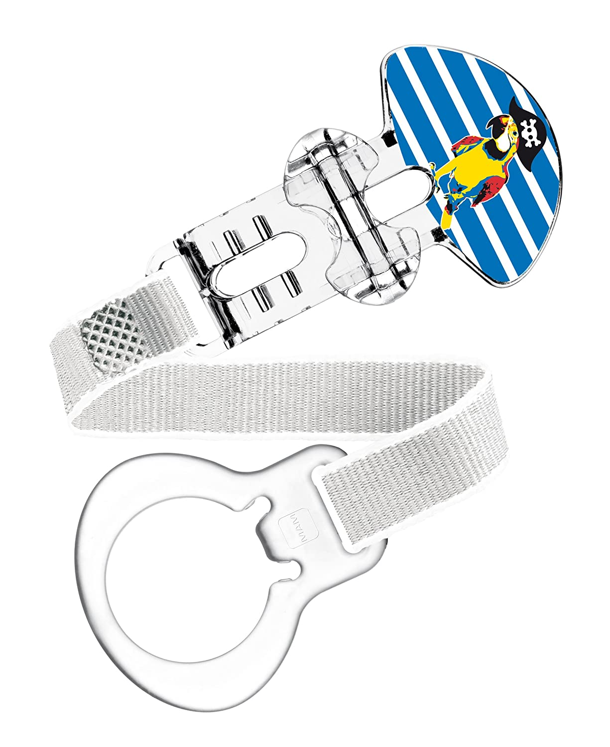 Amazon.com : MAM 451911 Dummy Clip Ribbon for Boys Assorted Colours ...