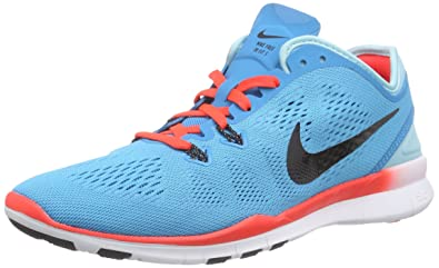 new styles fbf81 b057a Nike Women s Free TR 5.0 Fit 5 Multisport Indoor Shoes, Multicolor (Blue  Black