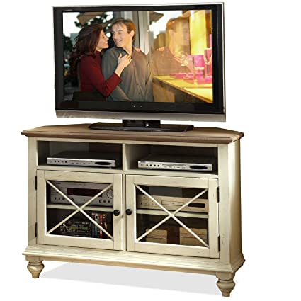 Amazoncom Riverside Furniture Coventry Two Tone Corner TV Console