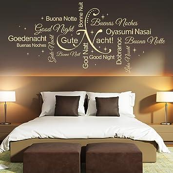 Wandtattoo Gute Nacht Wortwolke | Sprachen, Schlafzimmer, Träumen ...
