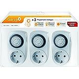 Garza 400605 - Temporizador analógico mini, blister de 3 unidades