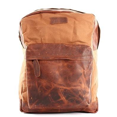 141cc3dd90ef0 LECONI Rucksack Lederrucksack für Damen   Herren Vintage-Style  Schulrucksack Retro Freizeitrucksack DIN A4 backpack