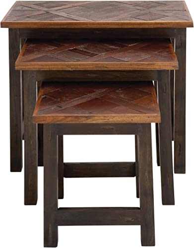 Deco 79 Wood Nesting Tables Set of 3 , 24 21 17