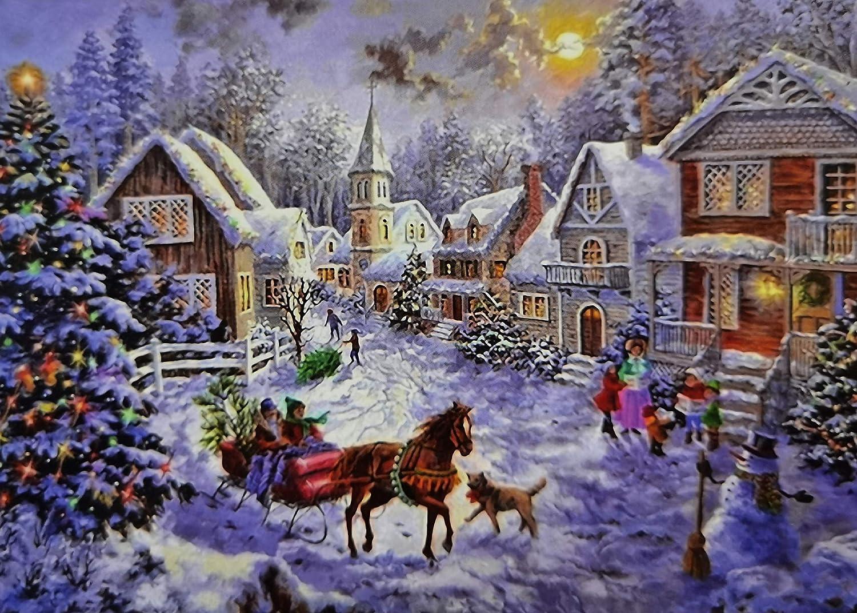 1000-Piece Jigsaw Puzzle Children Adult Christmas Snowman Puzzles Xmas