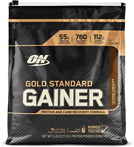Optimum Nutrition Gold Standard Gainer, Colossal Chocolate, 5 Pound