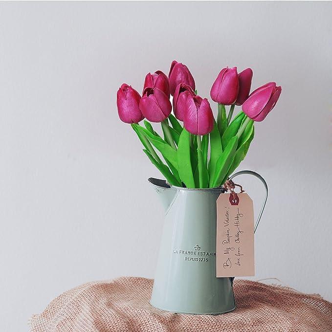 Tulipanes Artificiales Turelifes En Tallos Individuales Para