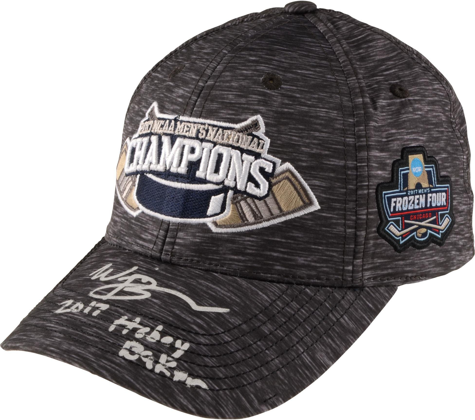 Will Butcher New Jersey Devils Autographed University of Denver 2017 National Champions Cap with 2017 Hobey Baker Inscription Limited Edition of 8 Fanatics Authentic Certified