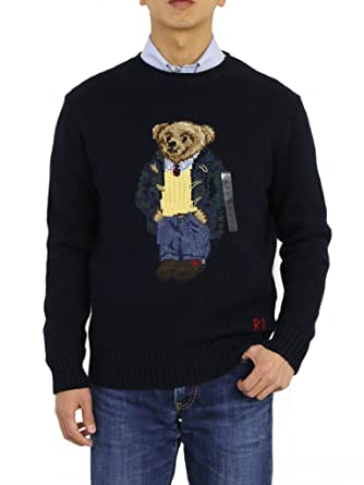 41e9ae07 Polo Ralph Lauren Big and Tall Polo Bear Knit Crewneck Sweater at Amazon  Men's Clothing store: