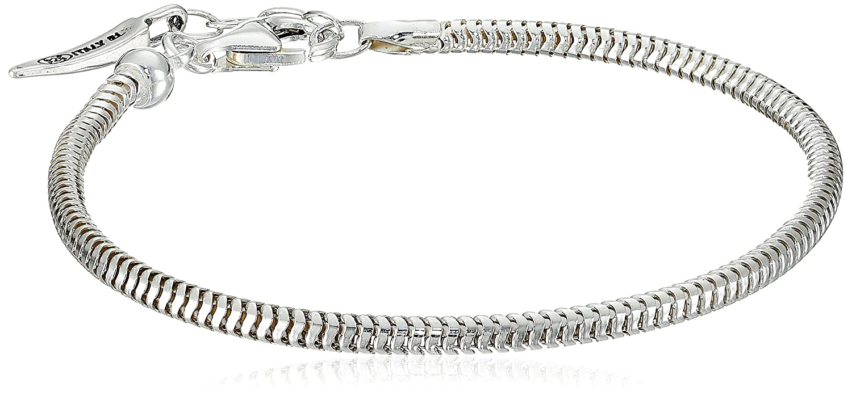 Sterling Silver Adjustable Solid Snake Ladies Bracelet, 7.5 7.5 Amazon Collection SSB33946-07.5