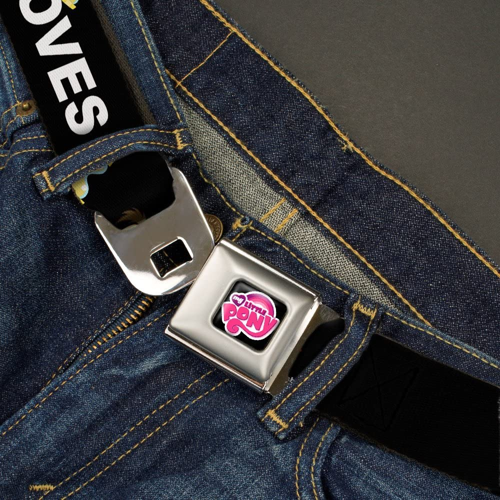 Buckle-Down Mens Seatbelt Belt My Little Pony Wmlp048