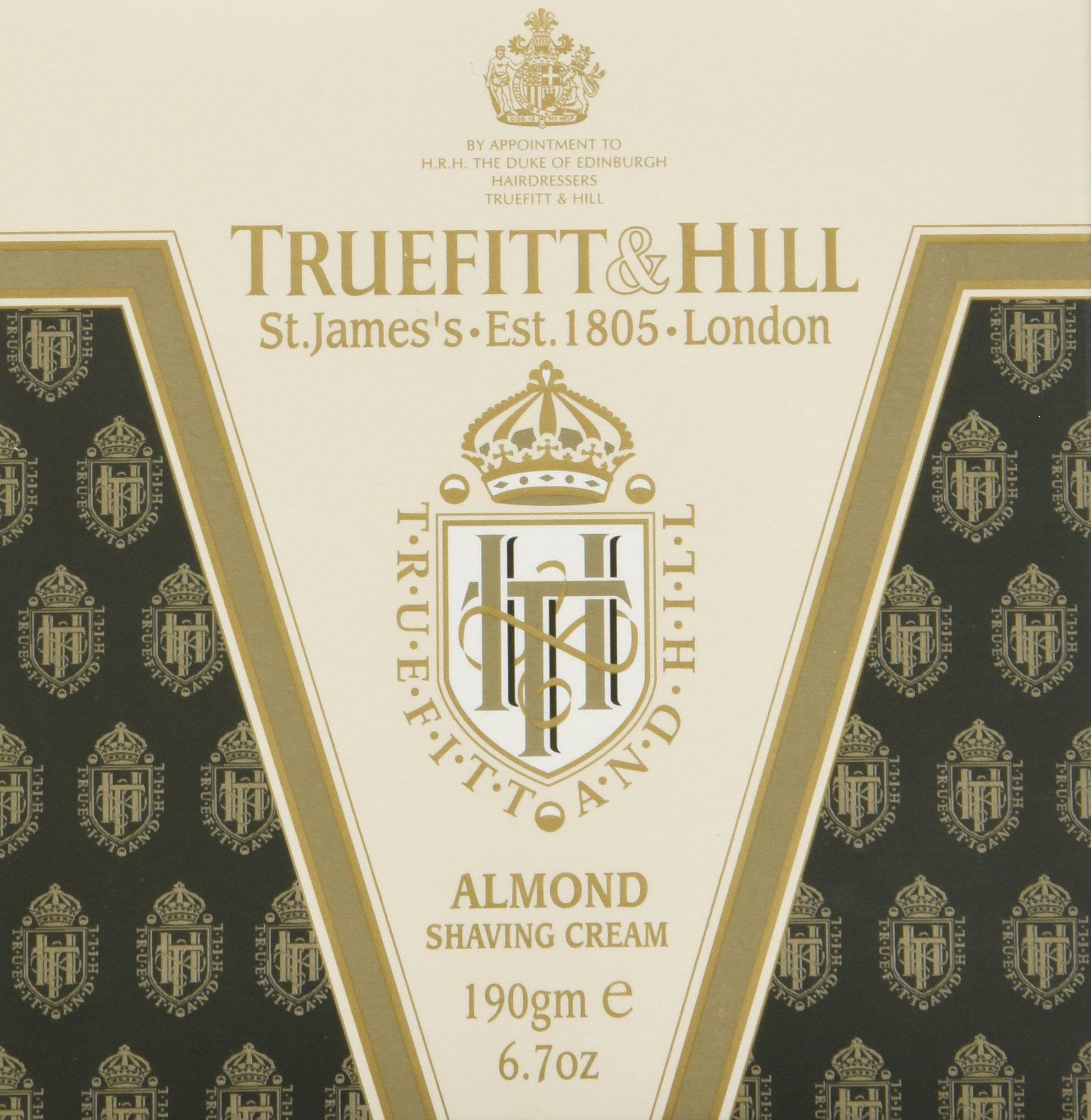 Truefitt & Hill Almond Shaving Cream Jar 6.7 ounces