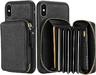 3680db5d6d ProCase iPhone XS Max Cover Portafoglio Custodia in Vera Pelle con  Cerniera, Cover Protettiva per