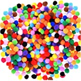 Acerich 2000 Pcs 1cm Assorted Pompoms Multicolor Valentine Day Arts and Crafts Fuzzy Pom Poms Balls for DIY Creative…