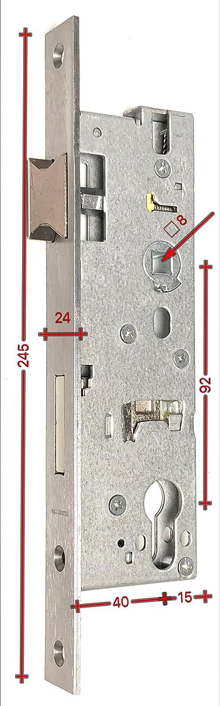 25-45 mm Stulpe Edelstahl 24x245 Dorn 30 WILKA 1438 Rohrrahmenschloss 92 Dornma/ß