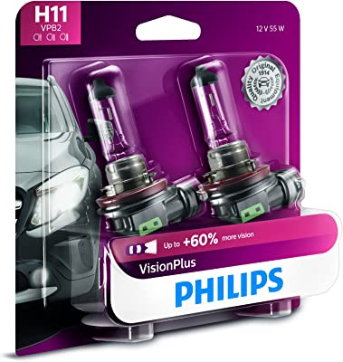 Phillips Vision Plus H11 Light Bulbs
