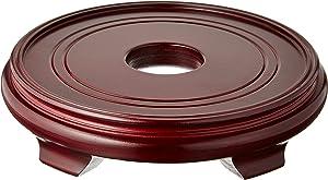 Oriental Furniture Rosewood Pedestal Stand - (Size 10.5 in. Base Diameter)