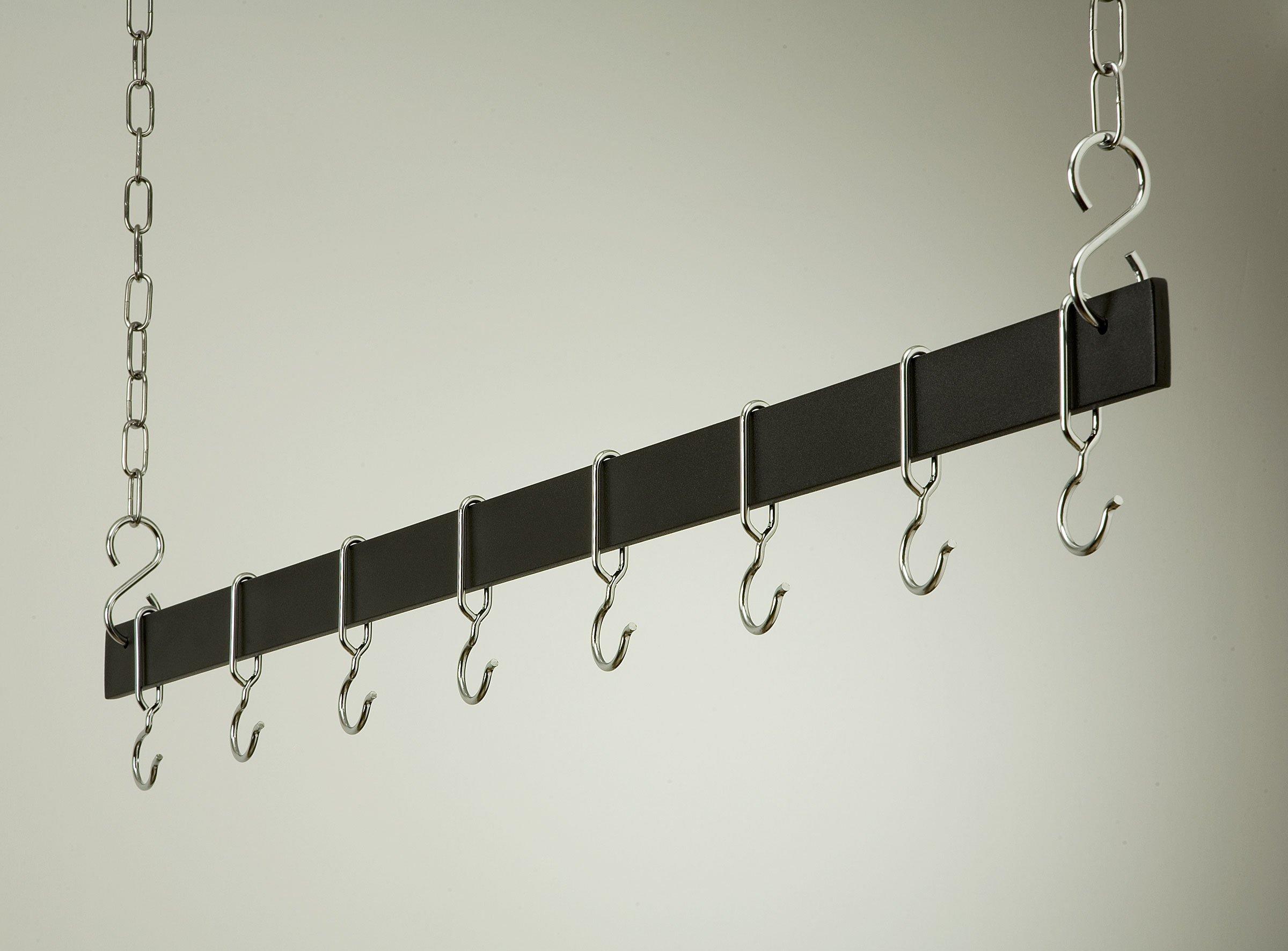 Hanging Bar Rack in Black w Chrome (54 in.)