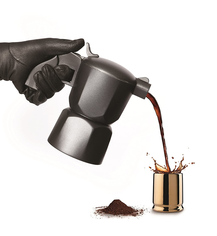 Viceversa Noir Cafetera Aluminio Negro
