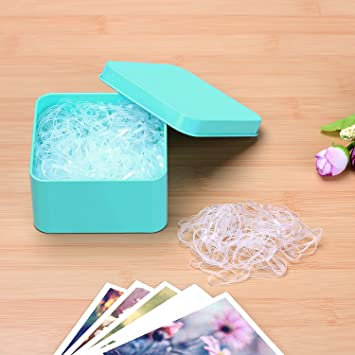 500 Pcs Clear Hair Bands Hair Tie Elastic Rubber Bands for Baby Girls No  Kink Bulk 97b8a308f30