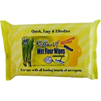 Kleen-Up Wet Floor Wipes, Lemongrass, 15ct