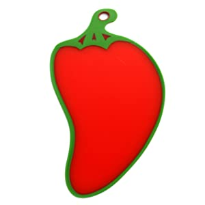 Dexas Cutting/Serving Board, Red Chili Shape