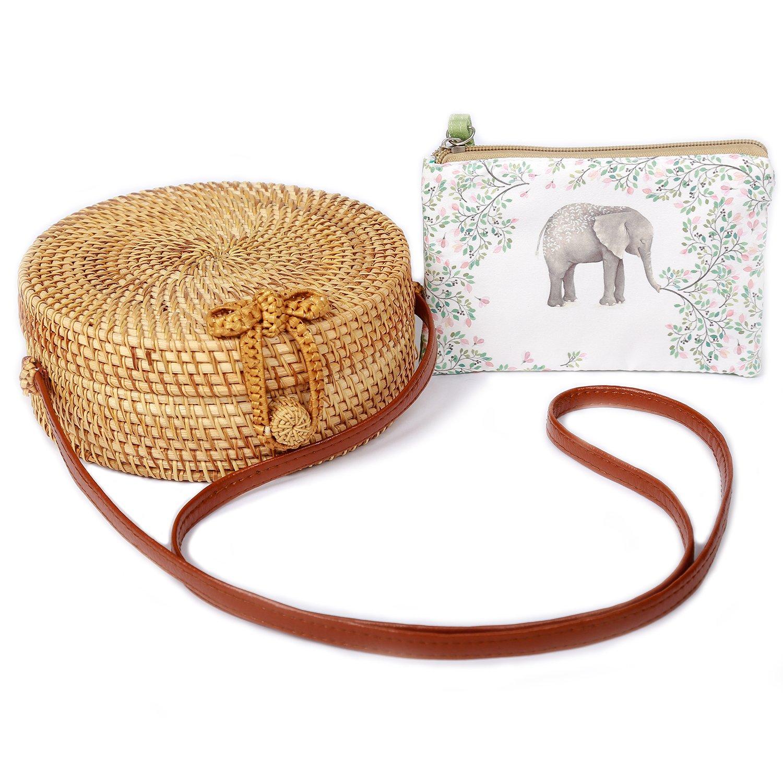 Handwoven Rattan Bag by BEEGREENY – No Smell, Prime Handmade Bag + Cute Purse