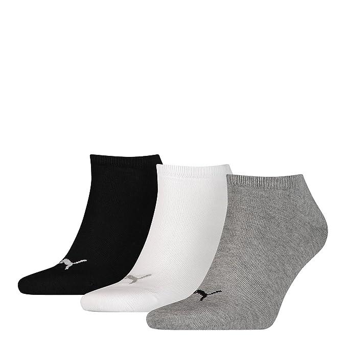 Calcetines Puma, deportivos, unisex, 3 pares Multicolor 6paar=Grau/Weiß/