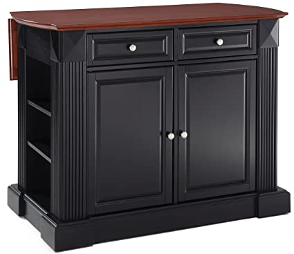 Gentil Crosley Furniture Drop Leaf Kitchen Island/Breakfast Bar   Black