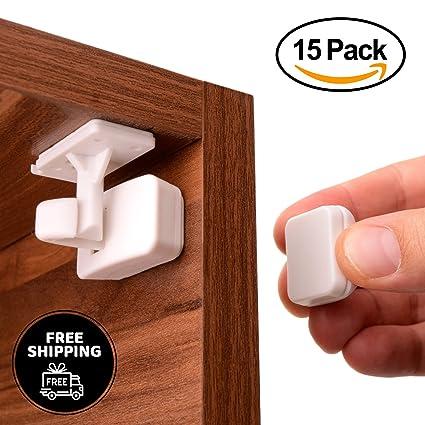 Cierres de Seguridad para Bebes Sticknlock - 15 Cerraduras Magnéticas para Cajones