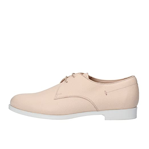 TOD'S Oxfords-Shoes Woman Pink / White Leather (5 US / 35 EU,