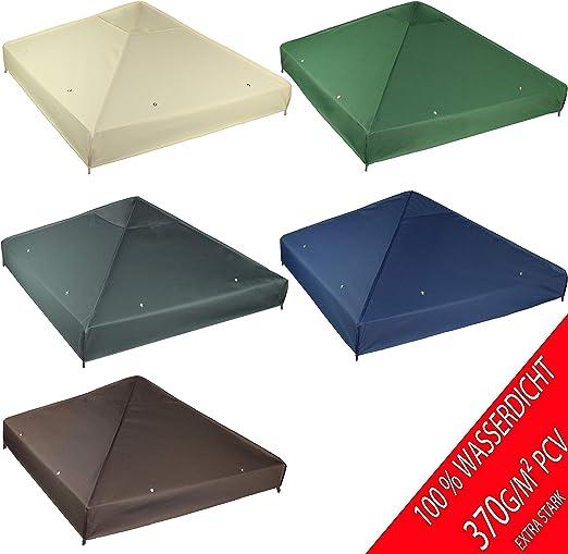 3 x 3 m Modello 1 Tetto di Ricambio per Gazebo Impermeabile Materiale: Panama PCV Soft 370 g//m2 Frearten.de