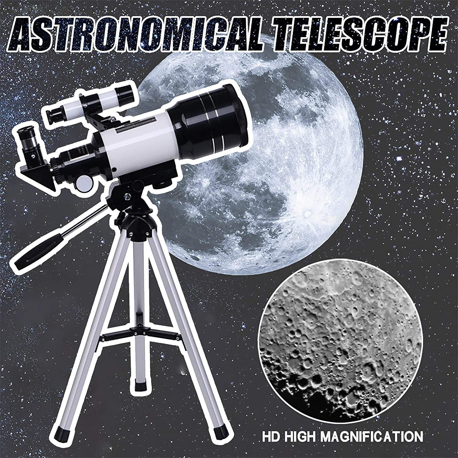 Barcley Explore Astronomy and Terrestrial Telescope for Beginners Kids Adults,High Power Easy Focus Binoculars,Travel Telescope with Tripod Carry Bag,Ideal Birthday Space Gift