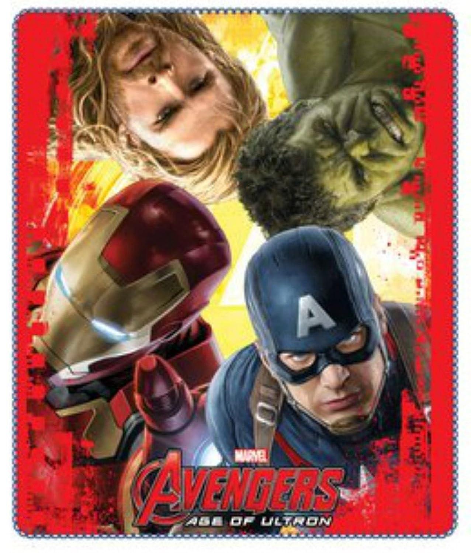 Kids Official Licensed Marvel The Avengers Fleece Blanket 120 x 140 cm (Orange) giftsbynet