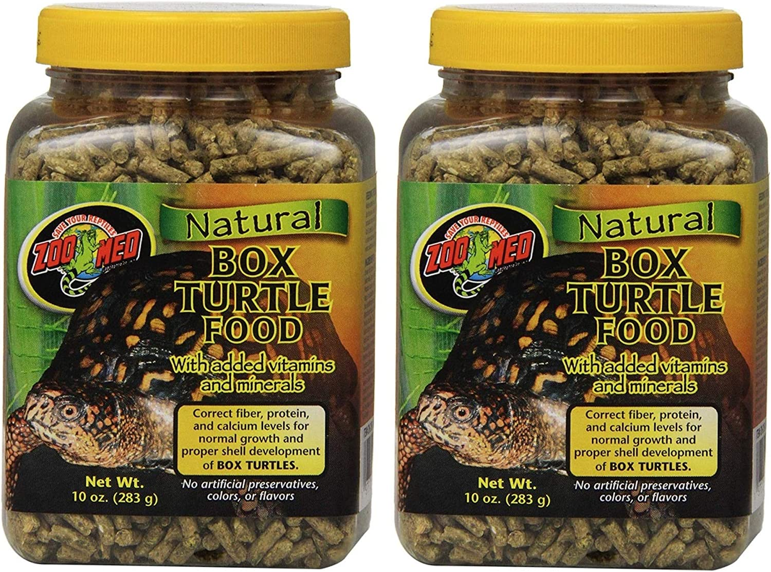 Zoo Med 2 Pack of Natural Box Turtle Food, 10 Ounces Per Container