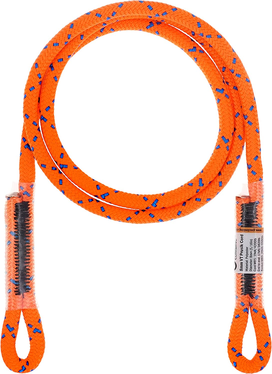 "GM CLIMBING 8mm (5/16"") Prusik Swen Eye-to-Eye Pre-Sewn 45 inch : Sports & Outdoors"