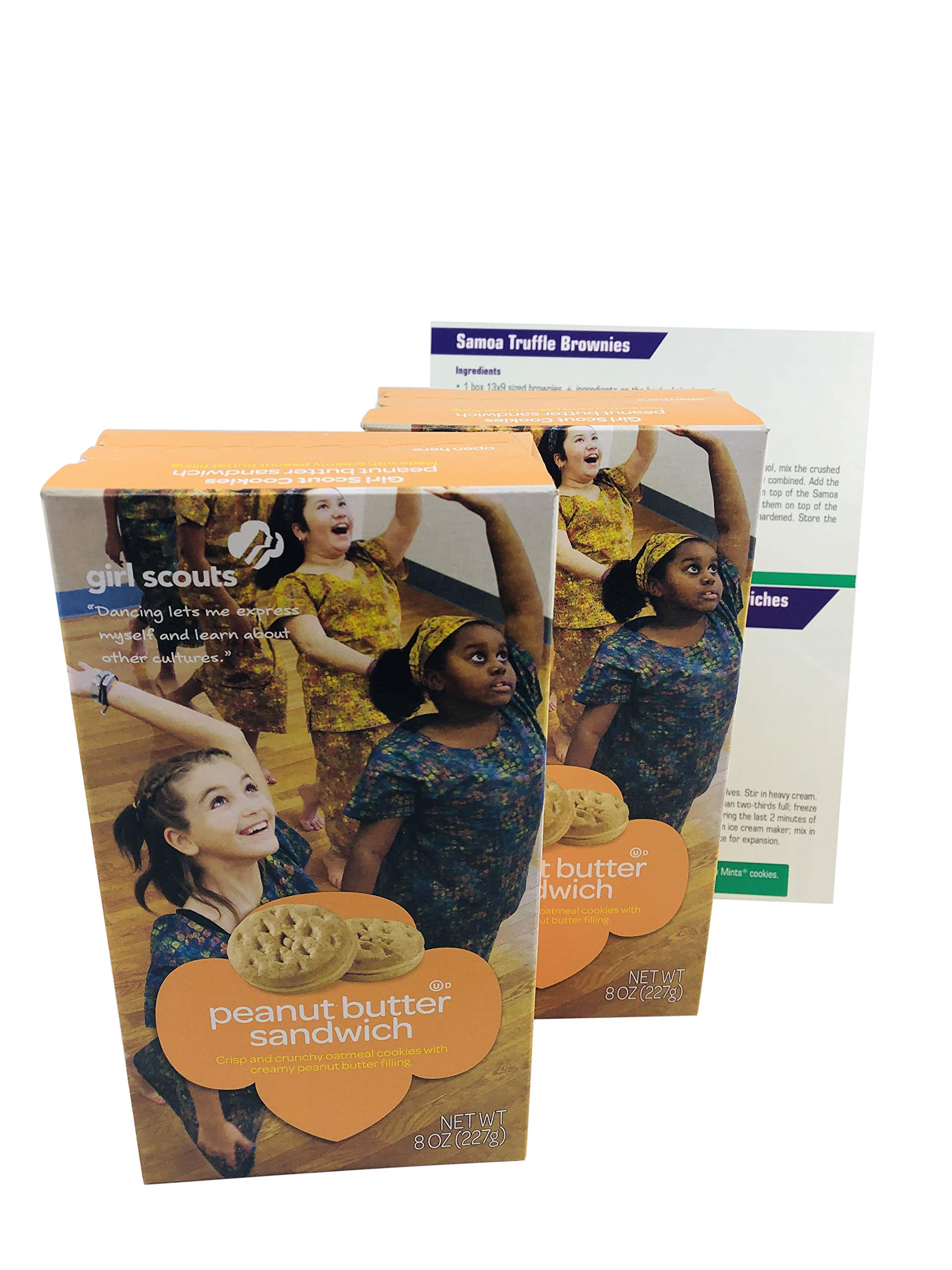 Girl Scout Cookies Do-si-dos (Peanut Butter Sandwich) 2 Pack, 8oz Each - Includes 4 Fun, Unique Recipes for Thin Mints, Samoas, Tagalongs and Do-si-dos