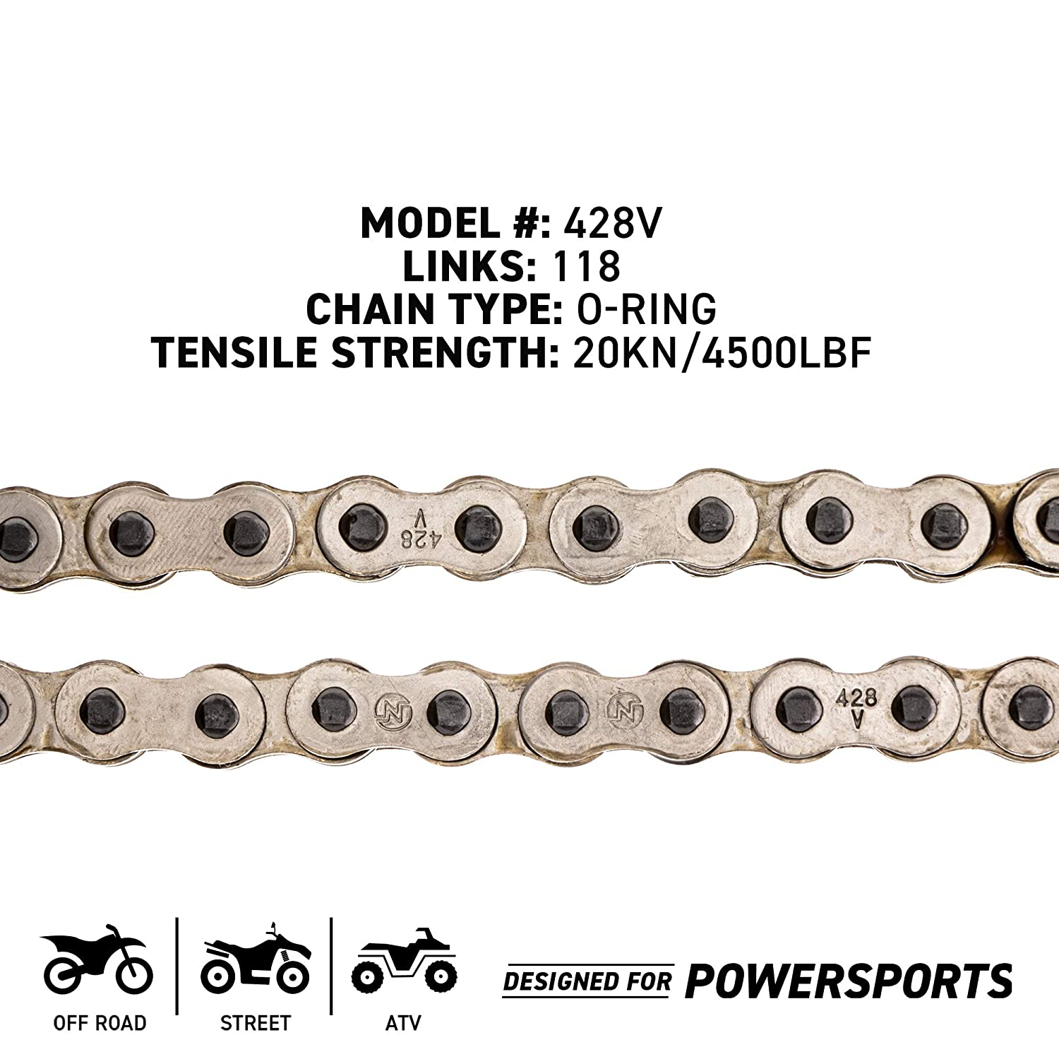 NICHE 428 Drive Chain 88 Links O-Ring With Connecting Master Link for Motorcycle ATV Dirt Bike