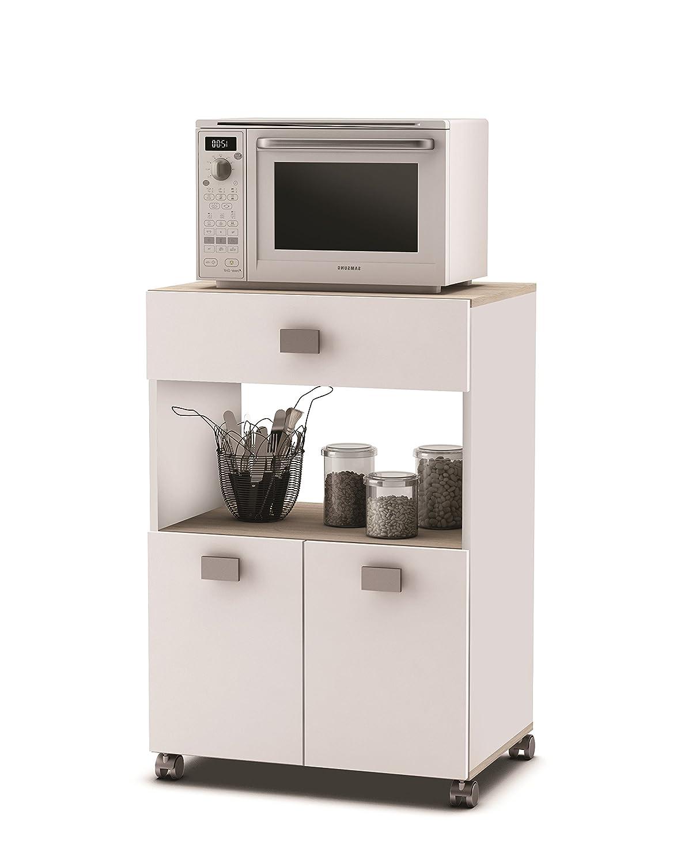 Links Küchenwagen 145 AKAZIE WEISS Küchentrolley Rollen Schublade ...