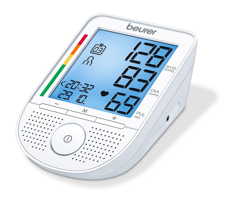 Beurer BM-49 - Tensiómetro de brazo con voz, indicador OMS, memoria 2 x 60 mediciones, idiomas de ajuste en D, F, I, NL (No español): Amazon.es: Salud y ...