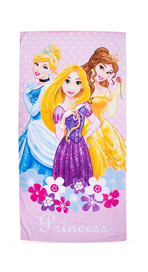 Character World - Toalla de playa, diseño de princesas Disney