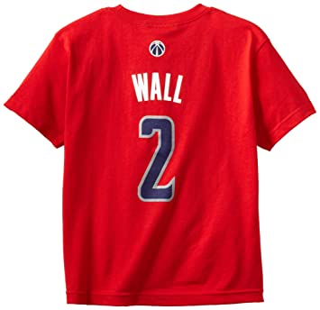 John Wall Washington Wizards Youth Niño Adidas NBA Red Player T-shirt camisa