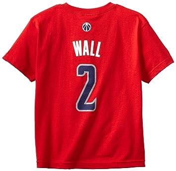 John Wall Washington Wizards Youth Niño Adidas NBA Red Player T-shirt camisa