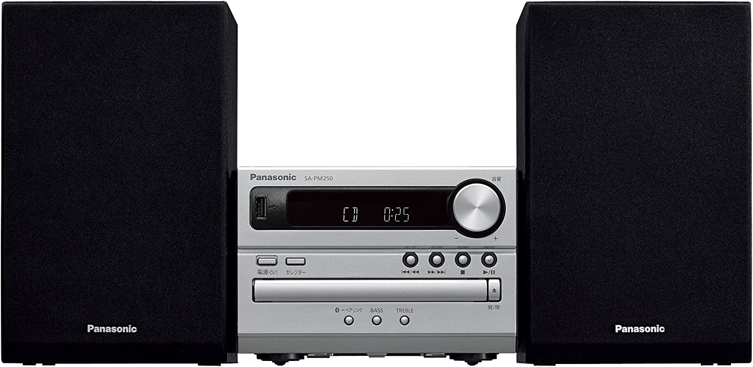Panasonic CD stereo system USB Memory / Bluetooth correspondence Silver SC-PM250-S OPEN BOX